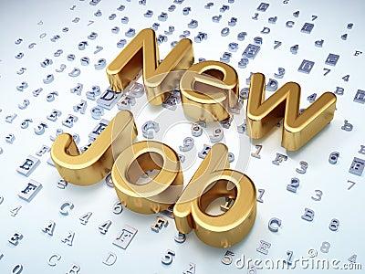 Business concept: Golden New Job on digital