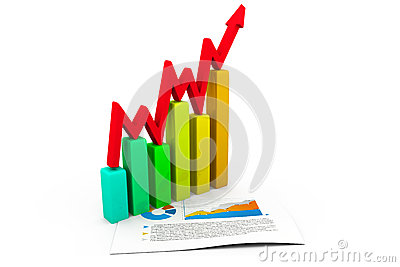 Business concept. graph and charts