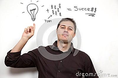 Business concept: Ideas and teamwork