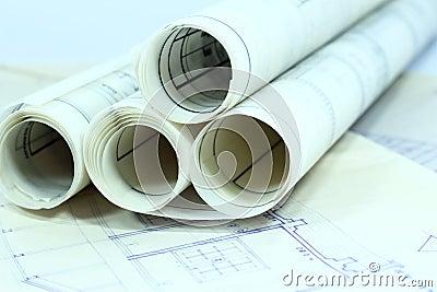 Business construction paperwork