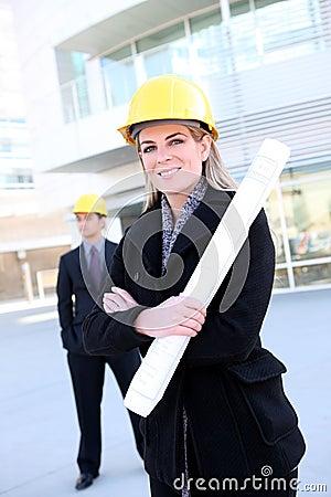 Business Construction Woman