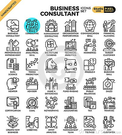 Free Business Consultant Icons Royalty Free Stock Images - 129519829