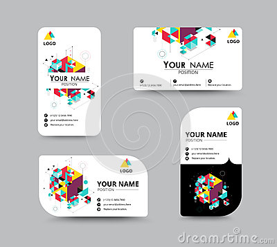 Free Business Contact Card Template Design. Vector Stock Royalty Free Stock Images - 57493719