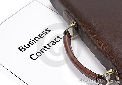 Business Contract and bag