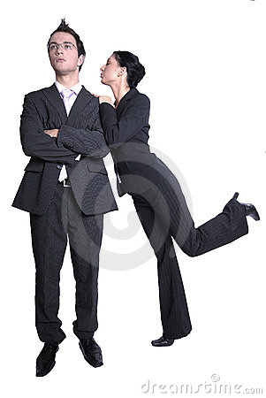 Business Couple in Dark Suits