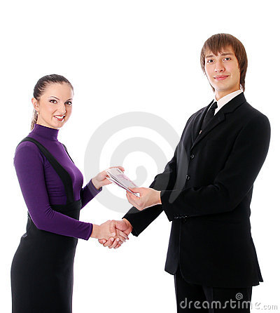 Business Couple With The Money Are Happy Stock Photography - Image: 17185652