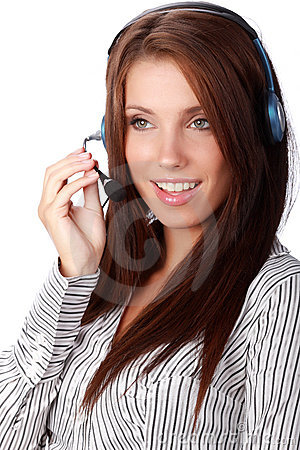 Business customer support operator
