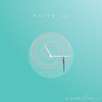 Free Business Deadline Vector Concept With Businessman Hanging On Clock Face. Symbol Of Time Management, Project Planning. Stock Photos - 112569993