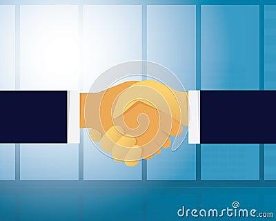 Business Deal Agreement Partnership Concept Vector Illustration