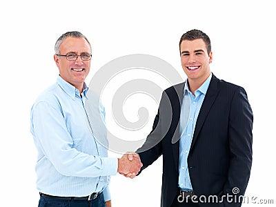 Business Deal - Businessmen shaking hands
