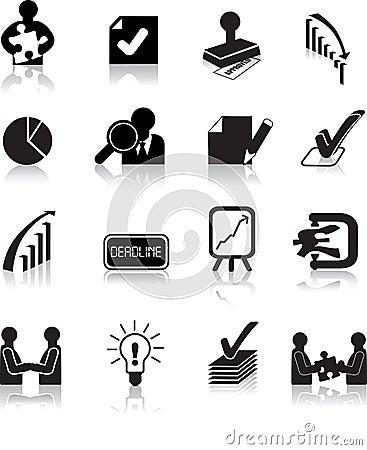 Business deals icon set