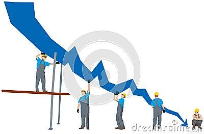 Business depression graph