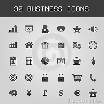 Free Business Design Elements Icon Set Stock Images - 30093334
