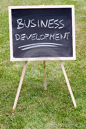 Free Business Development Written On A Chalkboard Royalty Free Stock Images - 820279
