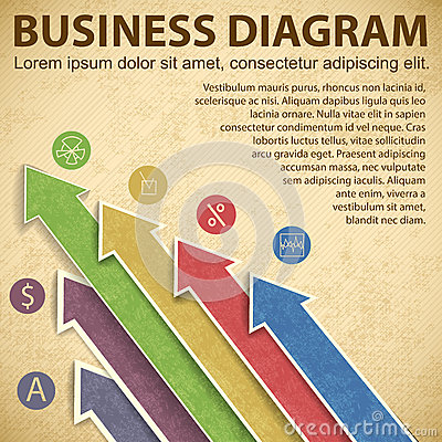Business diagram template with text fields