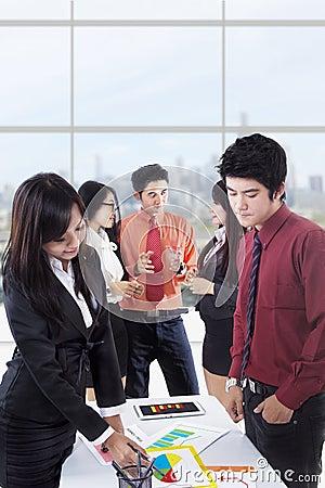 Business discussion portrait