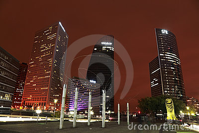 Business district Editorial Stock Image