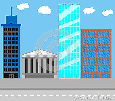 Business district stock vector image 60597270 for Building a dog kennel business
