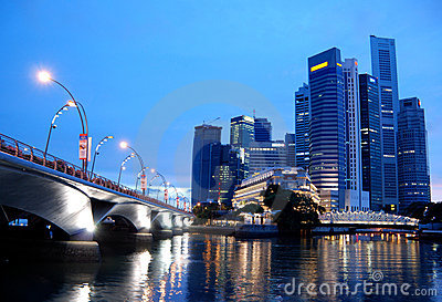 The business district, singapore