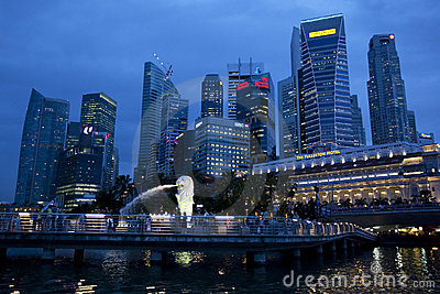 Business district, Singapore Editorial Image
