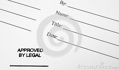 Business Document Approved By Legal Royalty Free Photography – Business Document