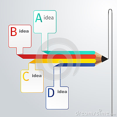 Free Business Education Pencil Infographics Option Royalty Free Stock Photography - 47251577