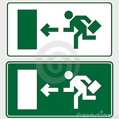 Business emergency exit sign