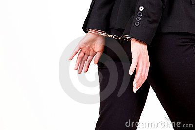 Business escaping handcuff