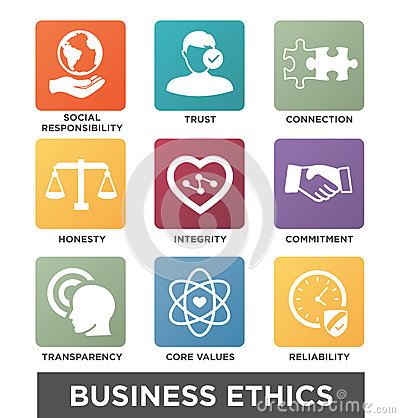 Free Business Ethics Solid Icon Set Stock Photos - 89395583
