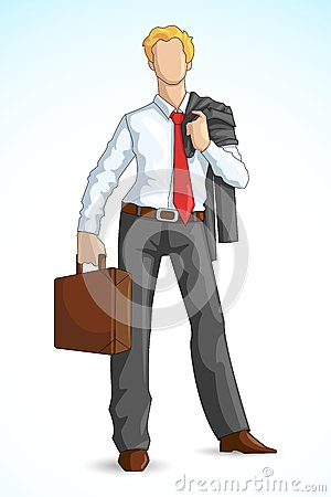 Business Executive with Briefcase