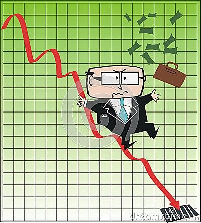 Business executive cartoon