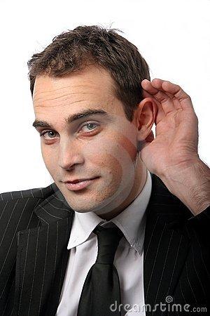 Business Executive Hard Hearing