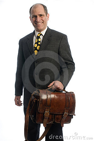 Free Business Executive Leather Attache Travel Bag Stock Photos - 8520483