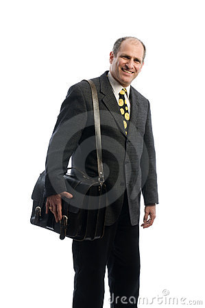 Free Business Executive Leather Attache Travel Bag Royalty Free Stock Photography - 8520577