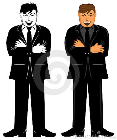 Business Executive Male Standing with Arms Folded