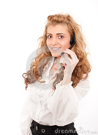 Business female customer service representative