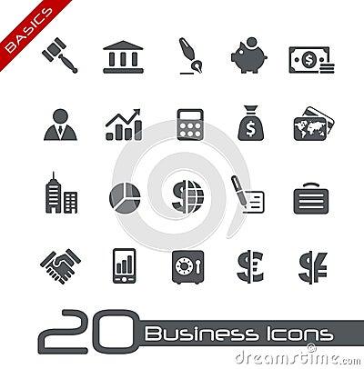Free Business & Finance Icons // Basics Royalty Free Stock Image - 26170756
