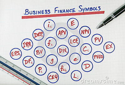 Business Finance Symbols Diagram