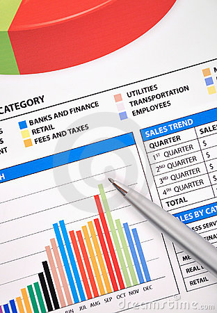 Free Business Financial Chart Of Earnings Stock Photography - 13331122