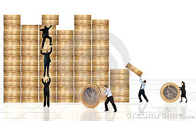 Business financial environment with businessmen around
