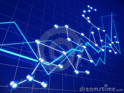 Business financial graph growth and network