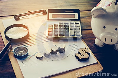 Business Financial Planning Financial Analysis for Corporate Growth Stock Photo