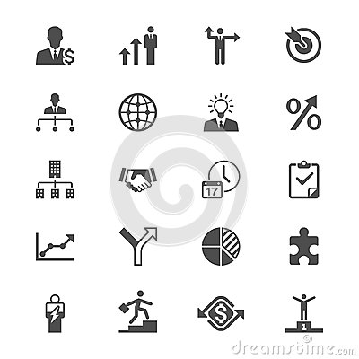 Free Business Flat Icons Royalty Free Stock Images - 40715989