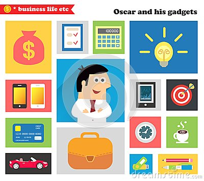 Free Business Gadgets And Stuff Royalty Free Stock Photo - 36011015