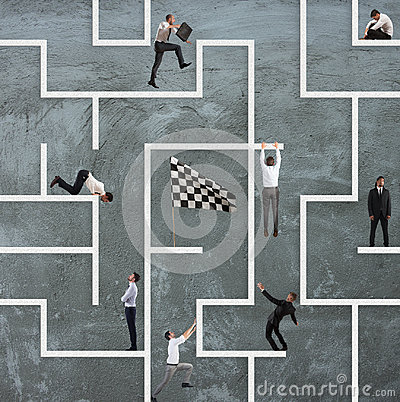 Free Business Game Of Maze Stock Photo - 95170040
