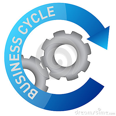 Business gear cycle illustration design