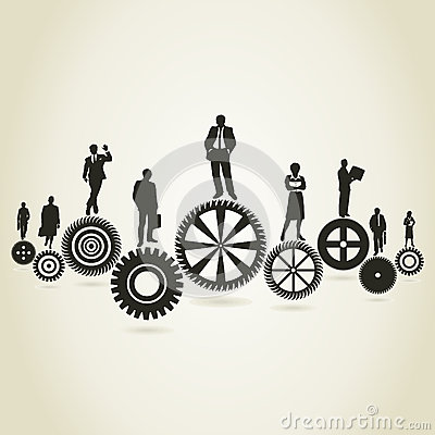 Business a gear wheel