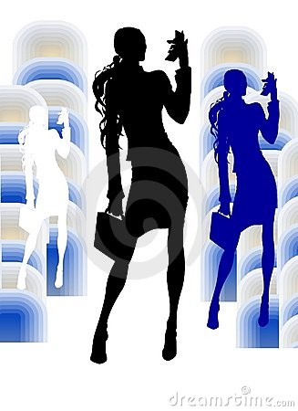 Business Girl With VideoPhone