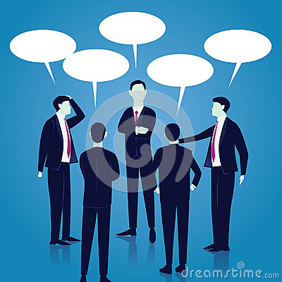 Free Business Global Communication Concept. Businessmen Speaking. Vec Royalty Free Stock Image - 98860986