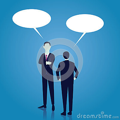 Free Business Global Communication Concept. Businessmen Speaking. Vector Royalty Free Stock Images - 98847749